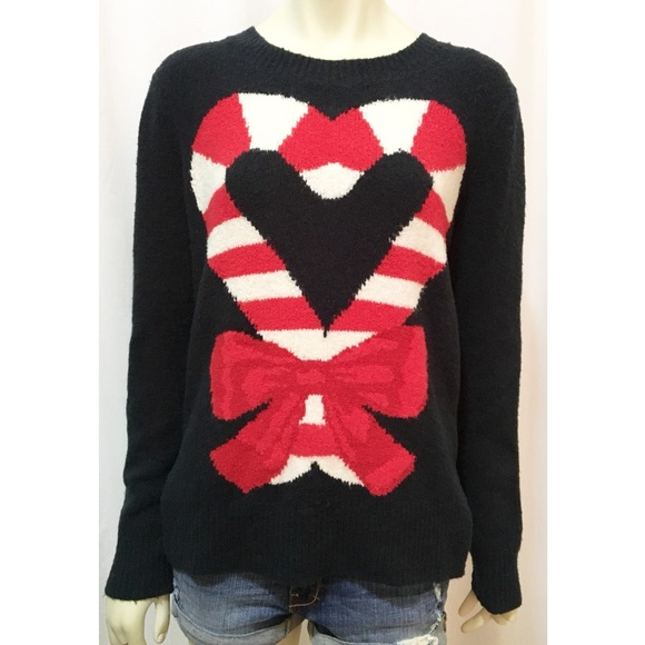 c060f85def9 Abercrombie   Fitch Sweaters - A F Medium Candy Cane Heart Ugly Christmas  Sweater